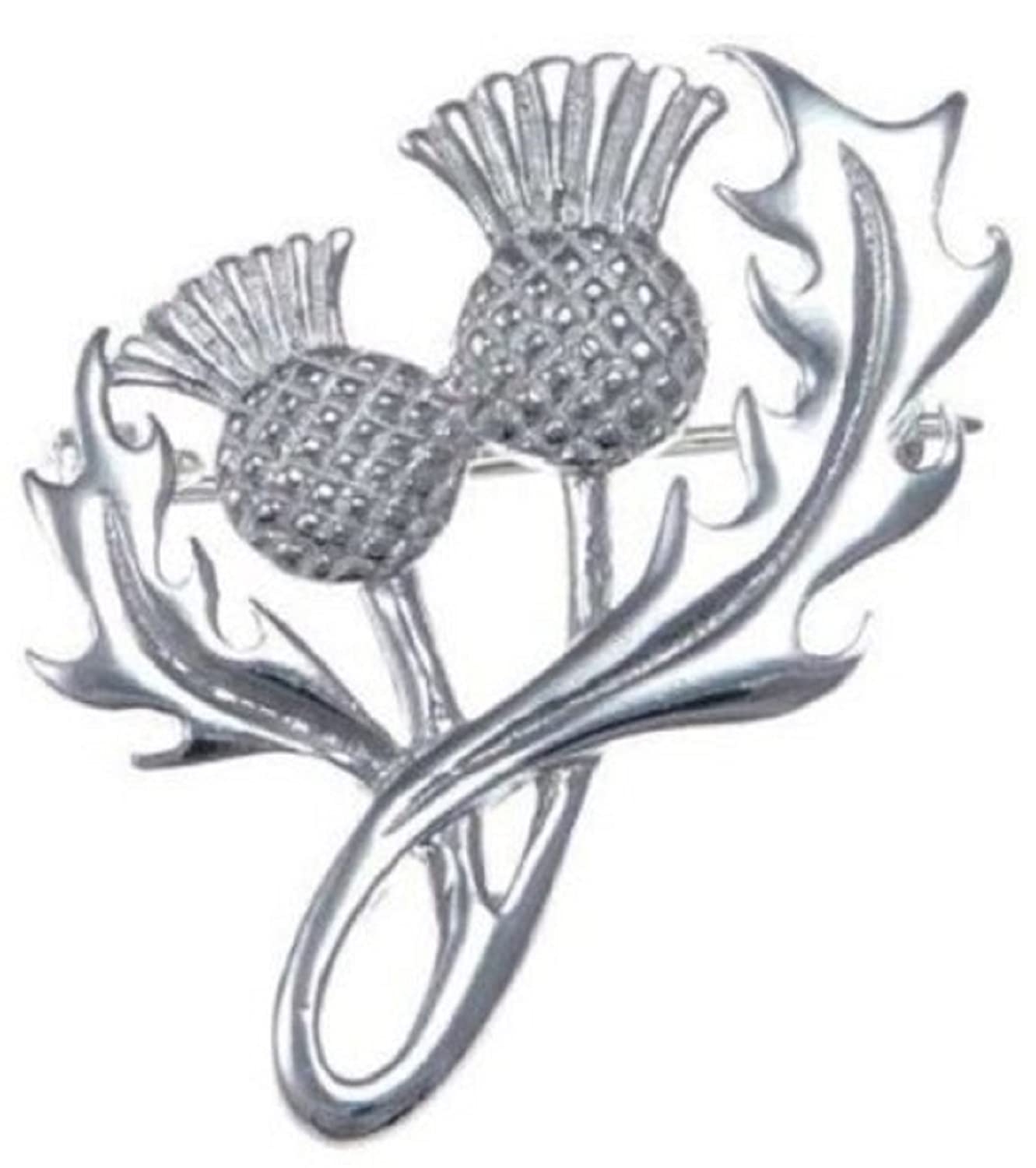 sterling silver thistle brooch gift boxed amazon co uk jewellery