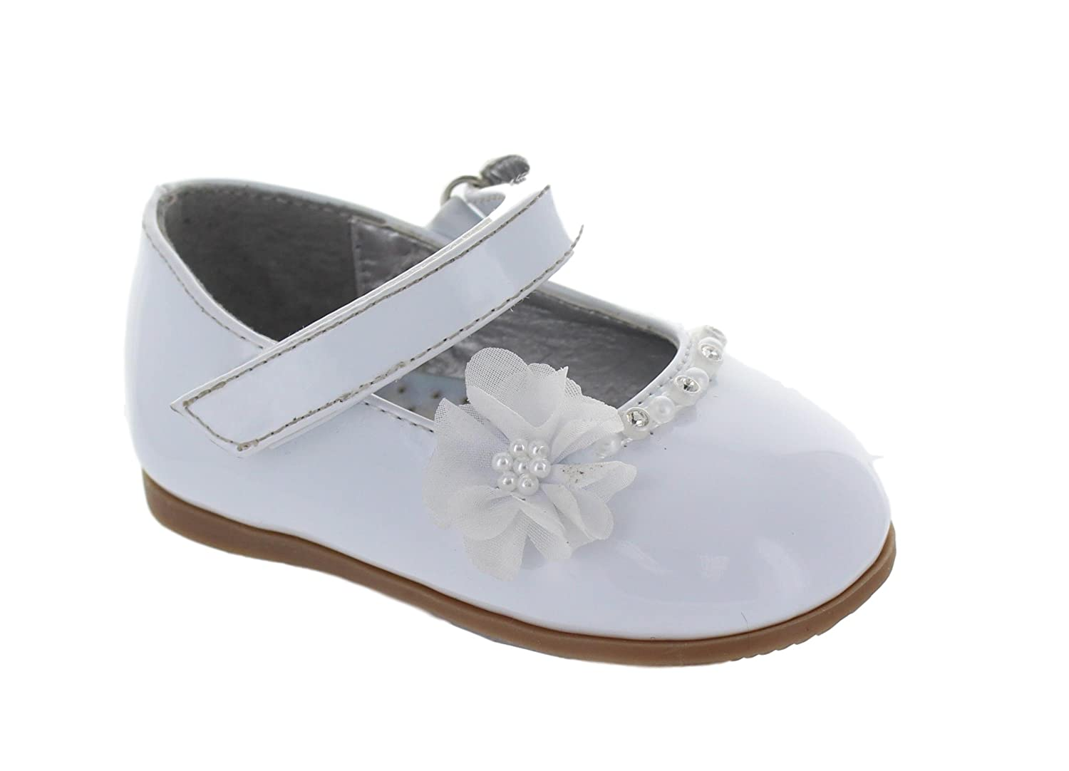 Josmo 452012 Little Girls Dress Shoes (White Patent)
