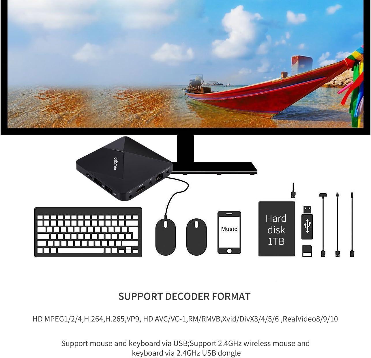 Tsing Smart TV Box 4K Android 5.1 con Kodi Preinstalado: Amazon.es: Electrónica