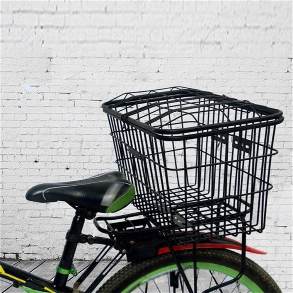 XJLJ Cesta de Bicicleta Gran Trasero Parrilla Fit Cesta De Acero ...
