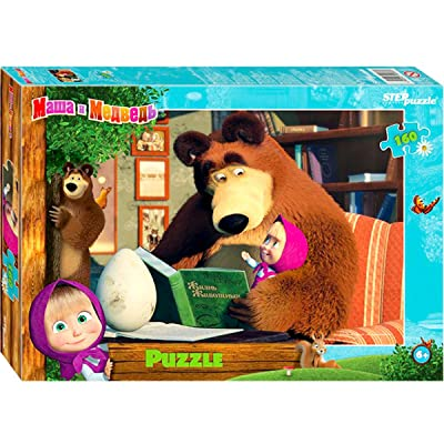 Masha and The Bear Cartoon 160 Pieces Jigsaw Puzzle: Toys & Games