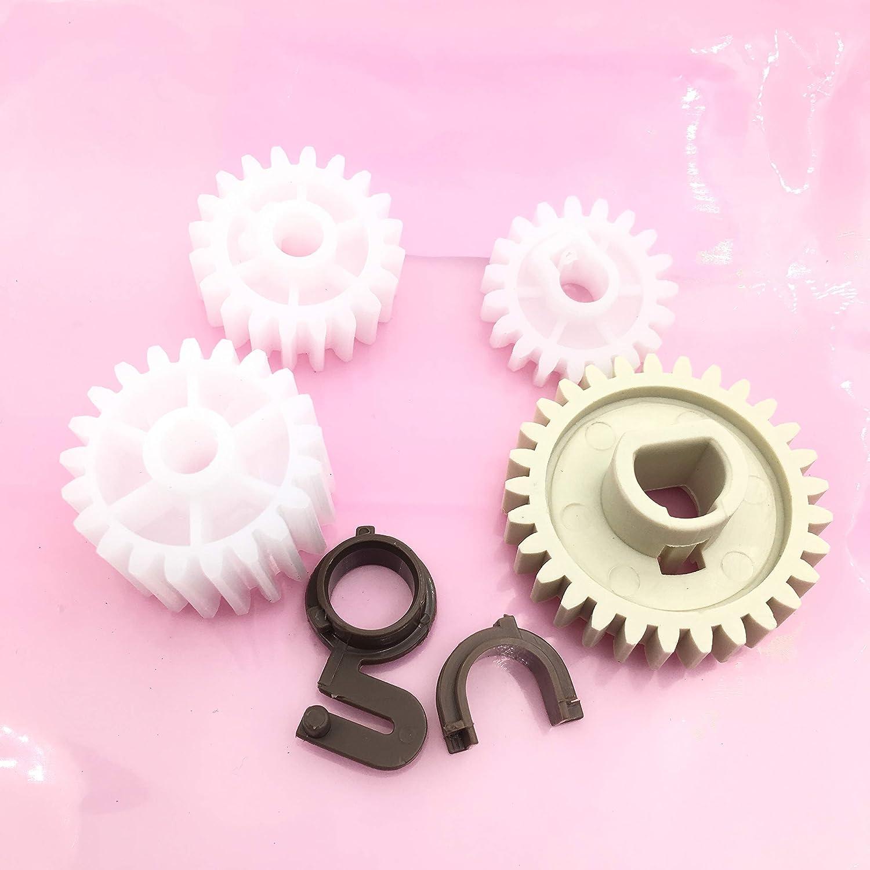 OKLILI 1SET X Q5956-67940 RC1-3610-000 RC1-3609-000 RU5-0331-000 RU5-0377-000 RU5-0378-000 RU5-0379-000 Fuser Drive Gear Repair Kit Wheel Set Compatible with HP 2400 2410 2420 2430