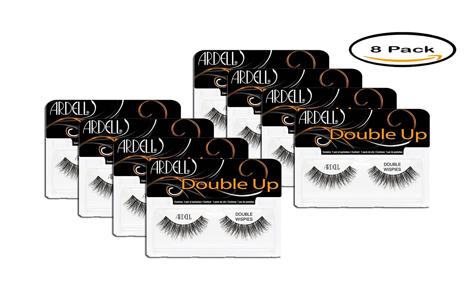 PACK OF 8 - Ardell Double Up, Double Wispies