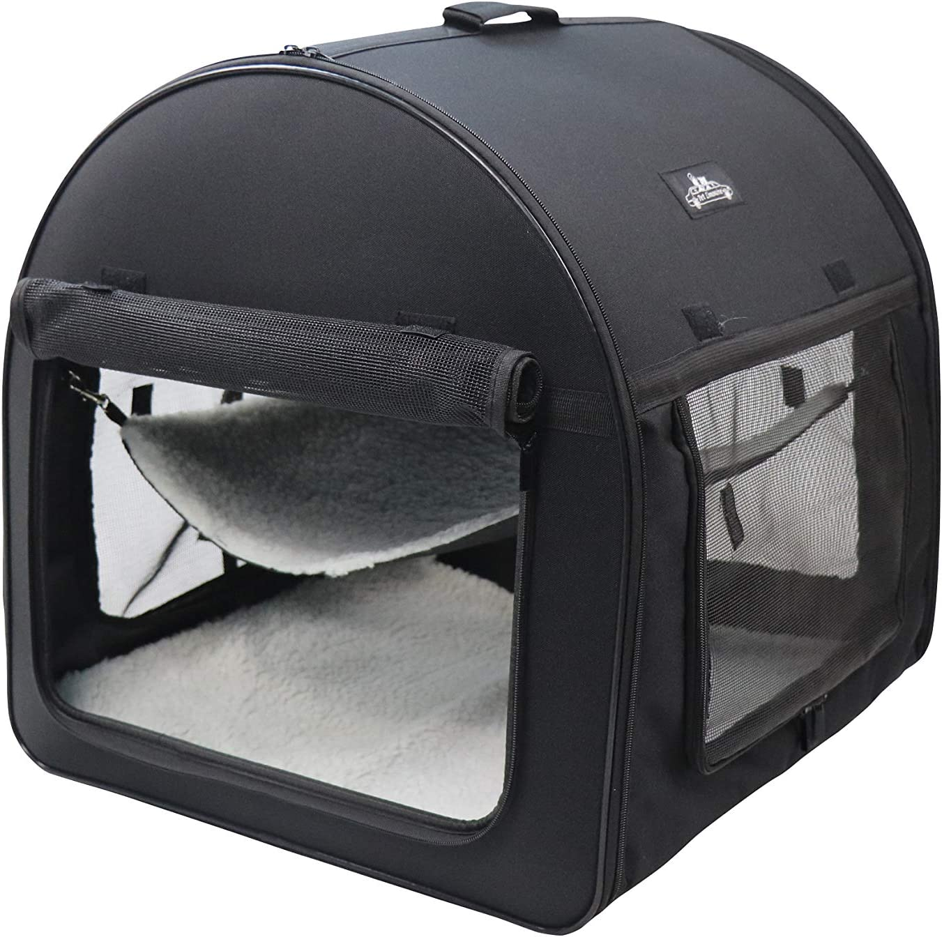 Pet Limousine Soft Dog Cat Crate Double Travel Kennel Tube Carrier