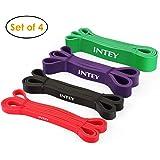 INTEY Bande Elastiche Resistenza - Set di 4 Elastici Fitness per Stiramento Powerlifting Elastico Loop Bands con Borsa per il Trasporto