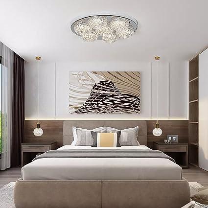 Amazon.com: FRTEJ Post-Modern Crystal Ceiling Lamp Bedroom Ceiling ...