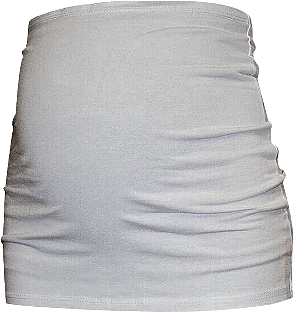 Hibukk Womens Solid Comfy Cotton Belly Waist Band Support Maternity Belt