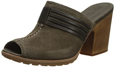 Timberland Women's EK Strafford Mule Gladiator Sandal, Dark Olive Suede, ...
