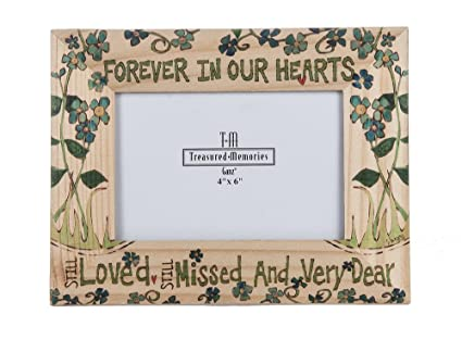 Amazoncom Painted Peace Photo Frame Forever In Our Hearts