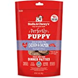 Stella & Chewy's Perfectly Puppy Freeze-Dried Raw Chicken and Salmon Dinner Patties Grain-Free Dog Food,14 oz Bag