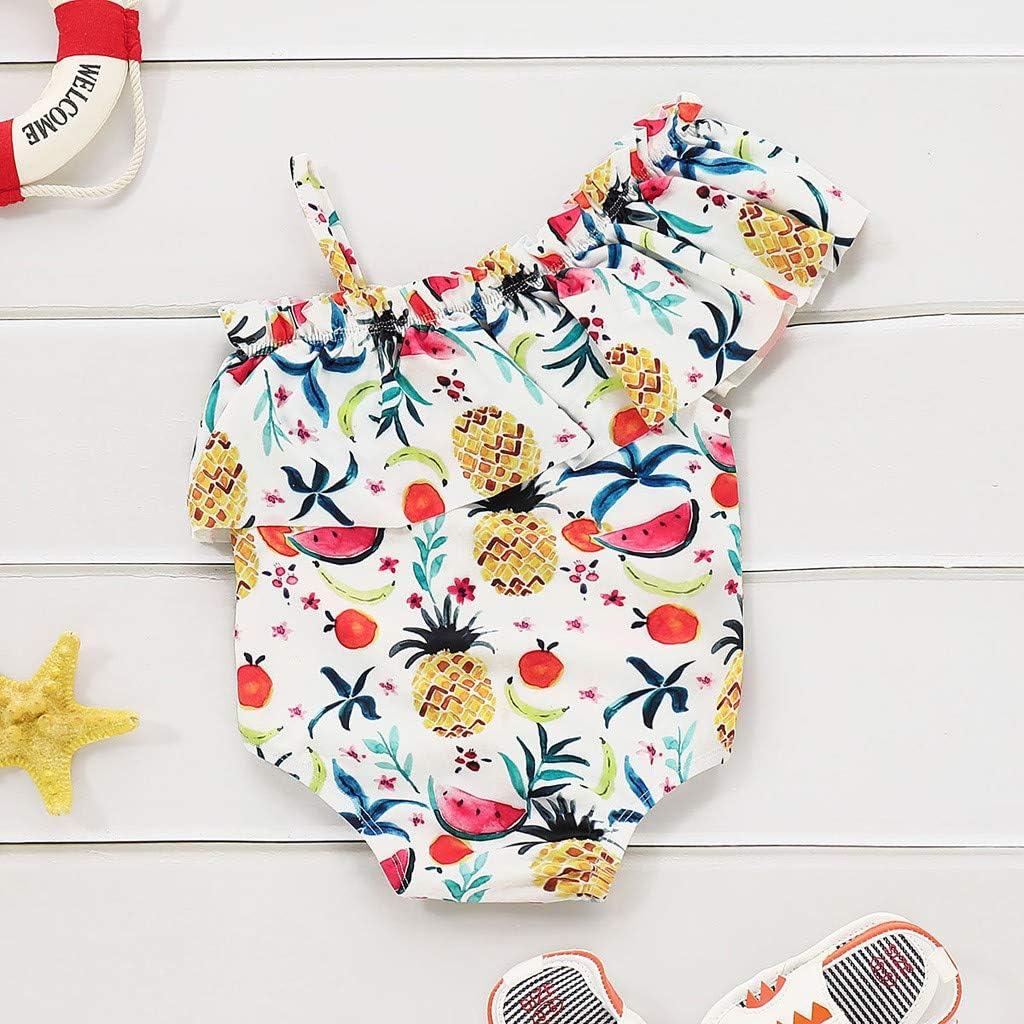 FANS Costume da bagno intero da bambina per beb/è Costume da bagno Costumi da bagno Tutina pagliaccetto Bikini 0-4 anni