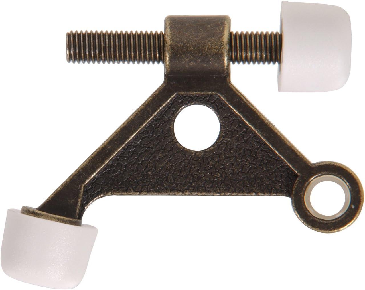 Hillman Hardware Essentials 851328 Hinge Pin Solid Door Stops Antique Brass
