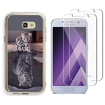 4c3eab4daac Funda Samsung Galaxy J4 Plus 2018 el Cambio del Gato de Tigre Suave TPU  Silicona Trasero