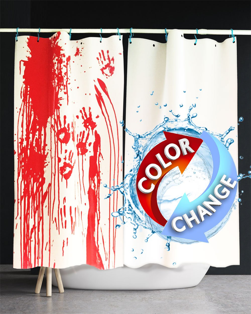 Amazon Bloody Shower Curtain Prank Set