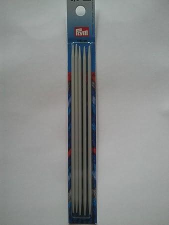 Nadelspiel Strumpfstricknadeln Prym Kunststoff grau L/änge 20 cm St/ärke 8,0 mm