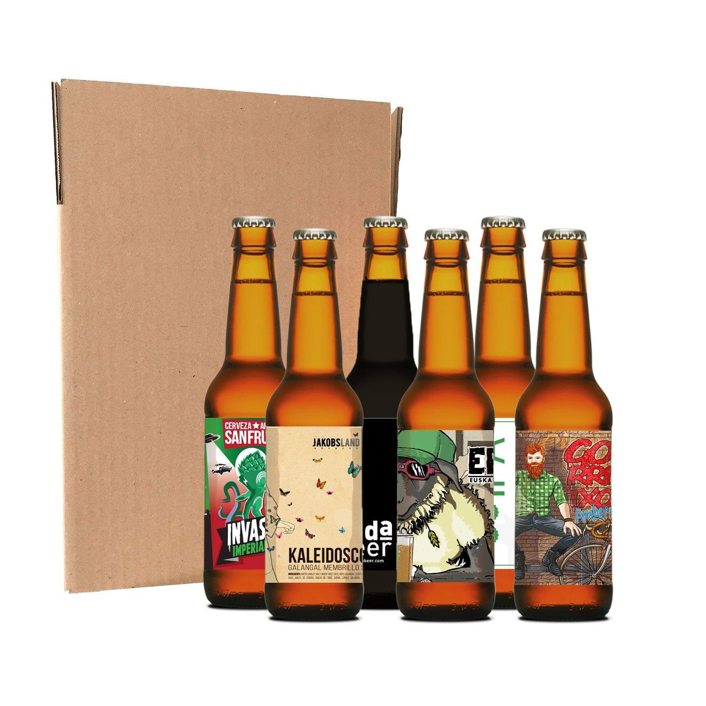 Pack degustación de cerveza artesana (24 botellines / latas de 33 cl): Amazon.es: Alimentación y bebidas