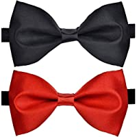 Sorella'z Men's Satin Bow Combo (Red & Black)