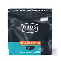 BUBS Naturals Pasture Raised Grass-Fed Collagen Peptides|Keto Friendly |Whole30 Approved|Paleo Friendly|Non - GMO|Dairy-Free Gluten-Free|Mixes Easy|Unflavored Collagen Powder (10oz Bag) | 14 Servings