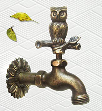 Amazon.com : Solid Brass Owl Faucet : Outdoor Faucets : Garden ...