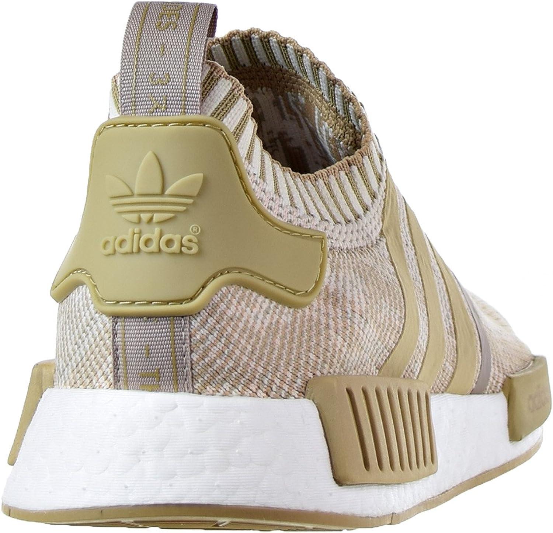 Adidas Herren NMD R1 Primeknit Sneaker Khaki Weiß