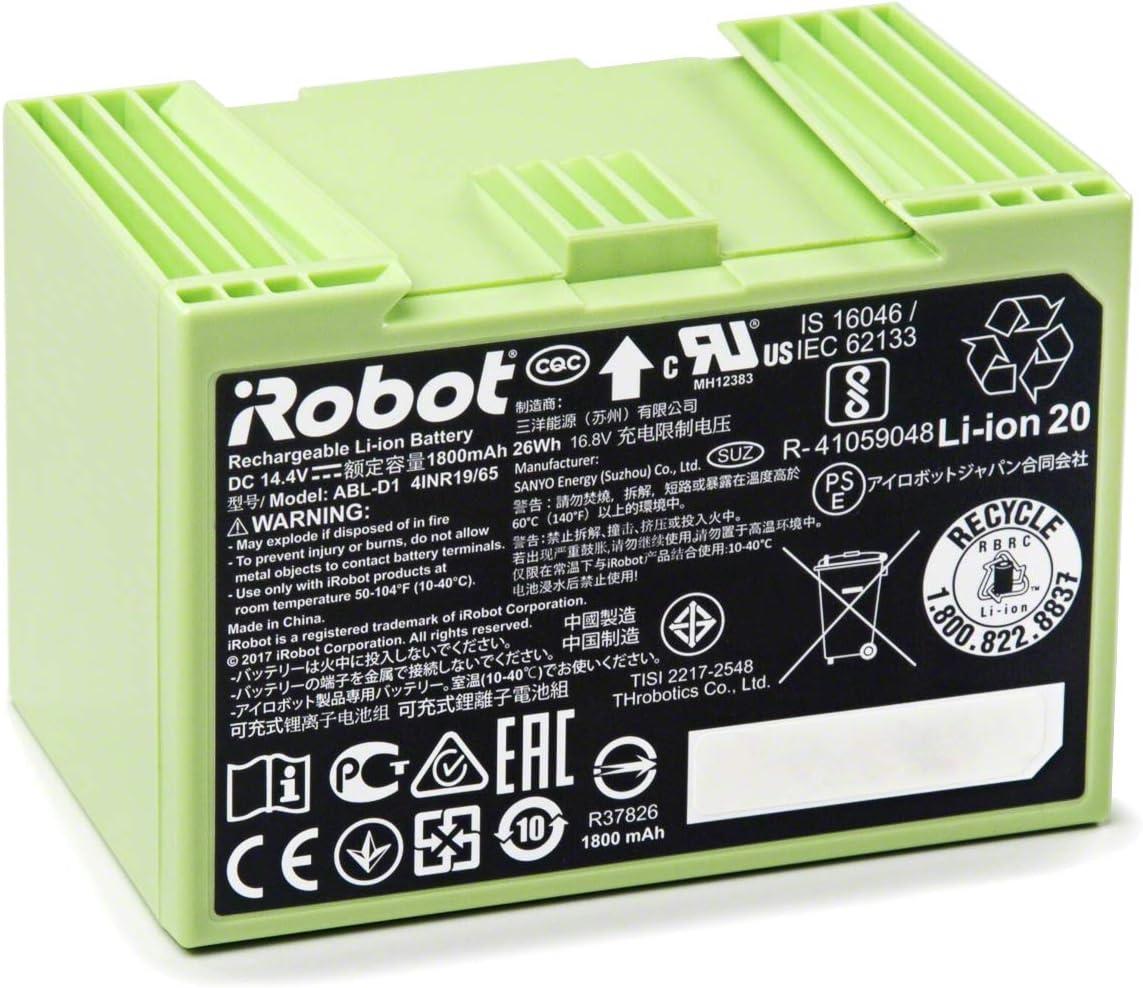 iRobot 4624864 Batería de ion de litio 1800mAh para Roomba Serie ...
