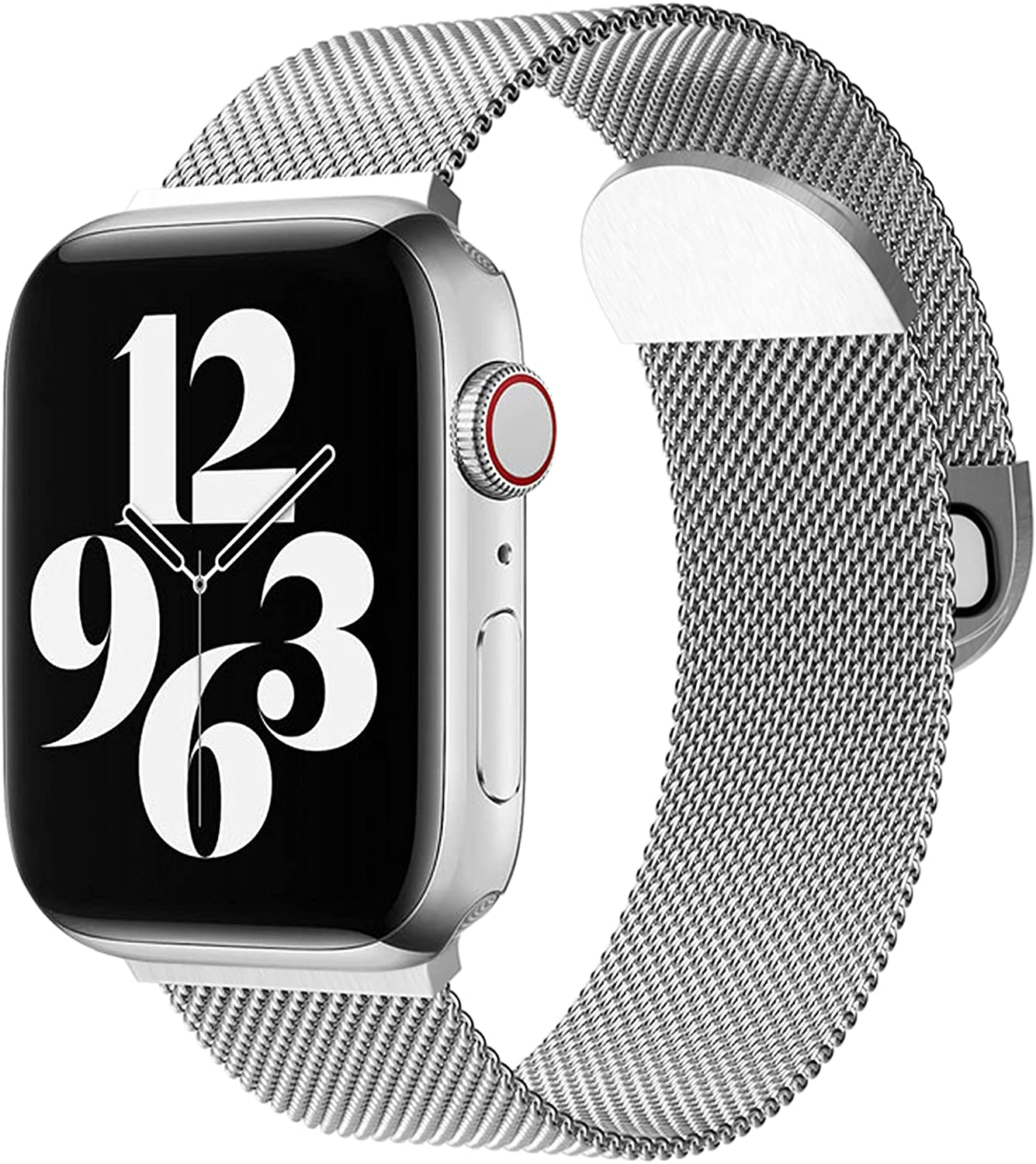 Metal Band Mesh Stanless Steel Magntic Closure Compatible with Apple Watch Band 38mm 40mm 42mm 44mm, Sport Watch Strap for Women Men Compatible for iWatch Series SE/6/5/4/3/2/1