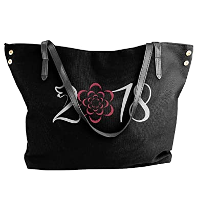 ff7a6ff9643c Women s Chinese New Year 2018 Year Of The Dog-1 Canvas Shoulder Bag  Handbags Tote
