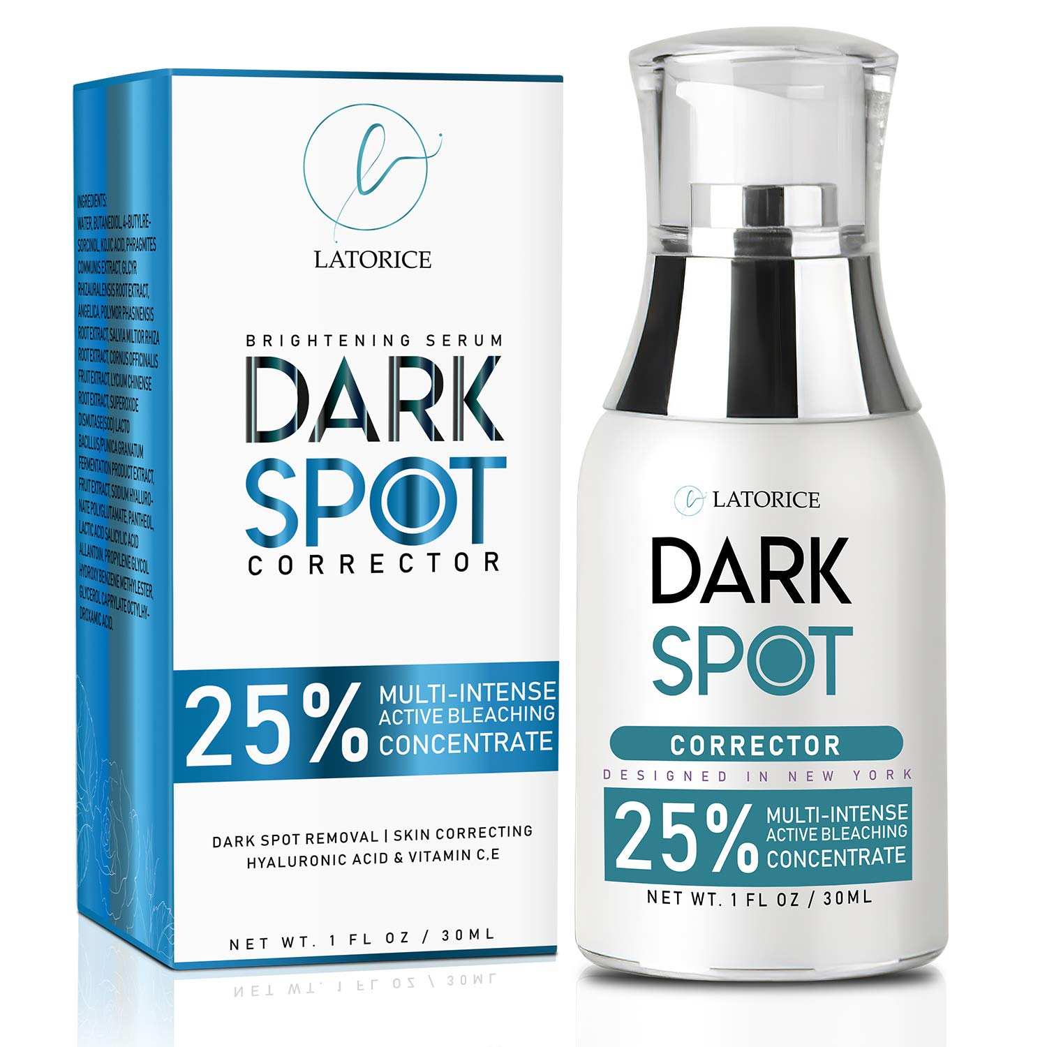 Latorice Dark Spot Corrector Lightening Serum with Kojic Acid, Dark Spot Corrector for Face