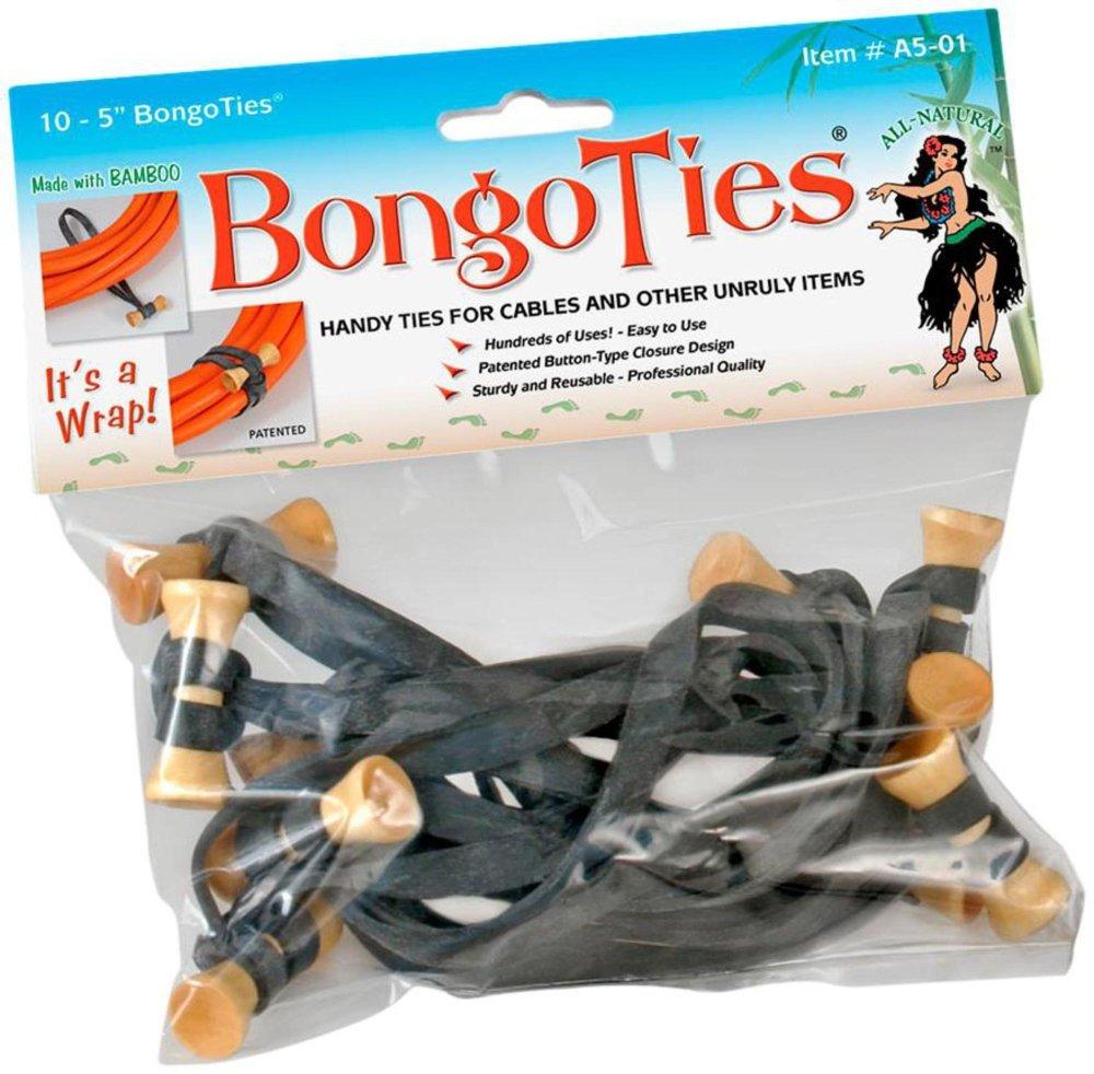 Bongo Ties Black 10 pcs FBA_13-116