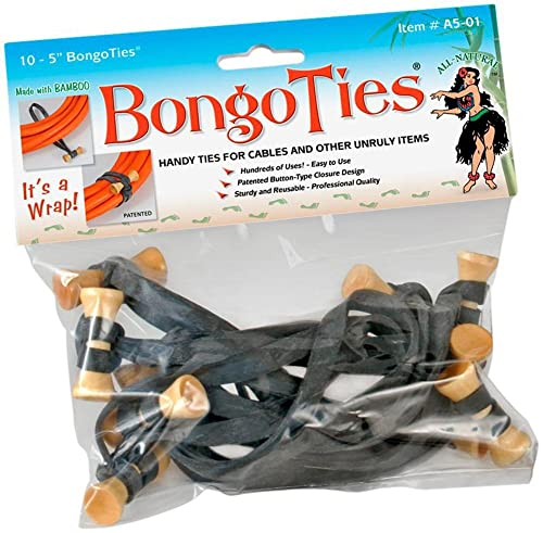Bongo Ties Black 10 pcs