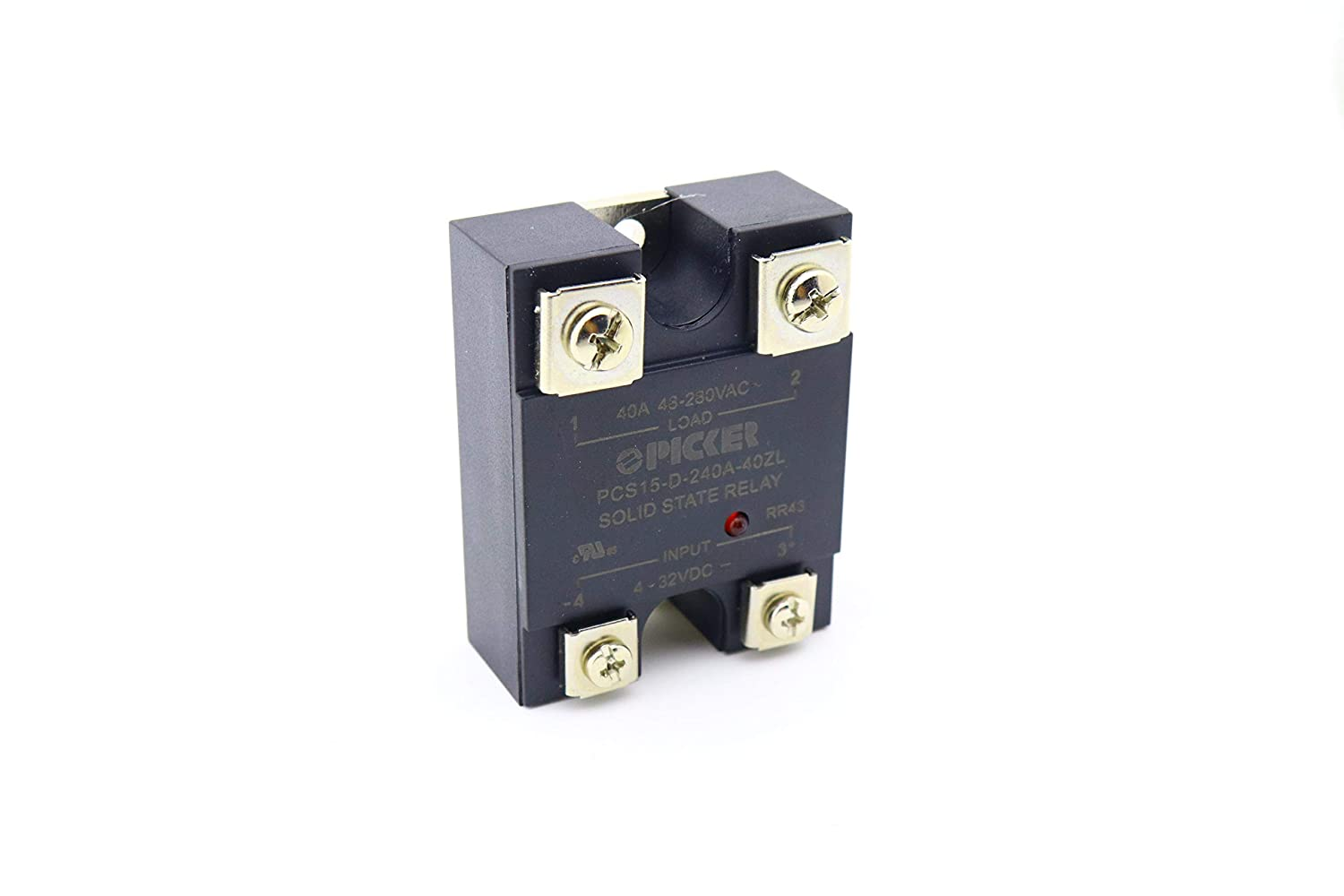 Pcs15 D 240a 40zl 40 Amp 48 280 Vac Zero Crossing Ul Rated 4 Solid State Relay 230vac 32 Vdc Input Hockey Puck With Led Cross Carlo Gavazzi Rm1a23d25