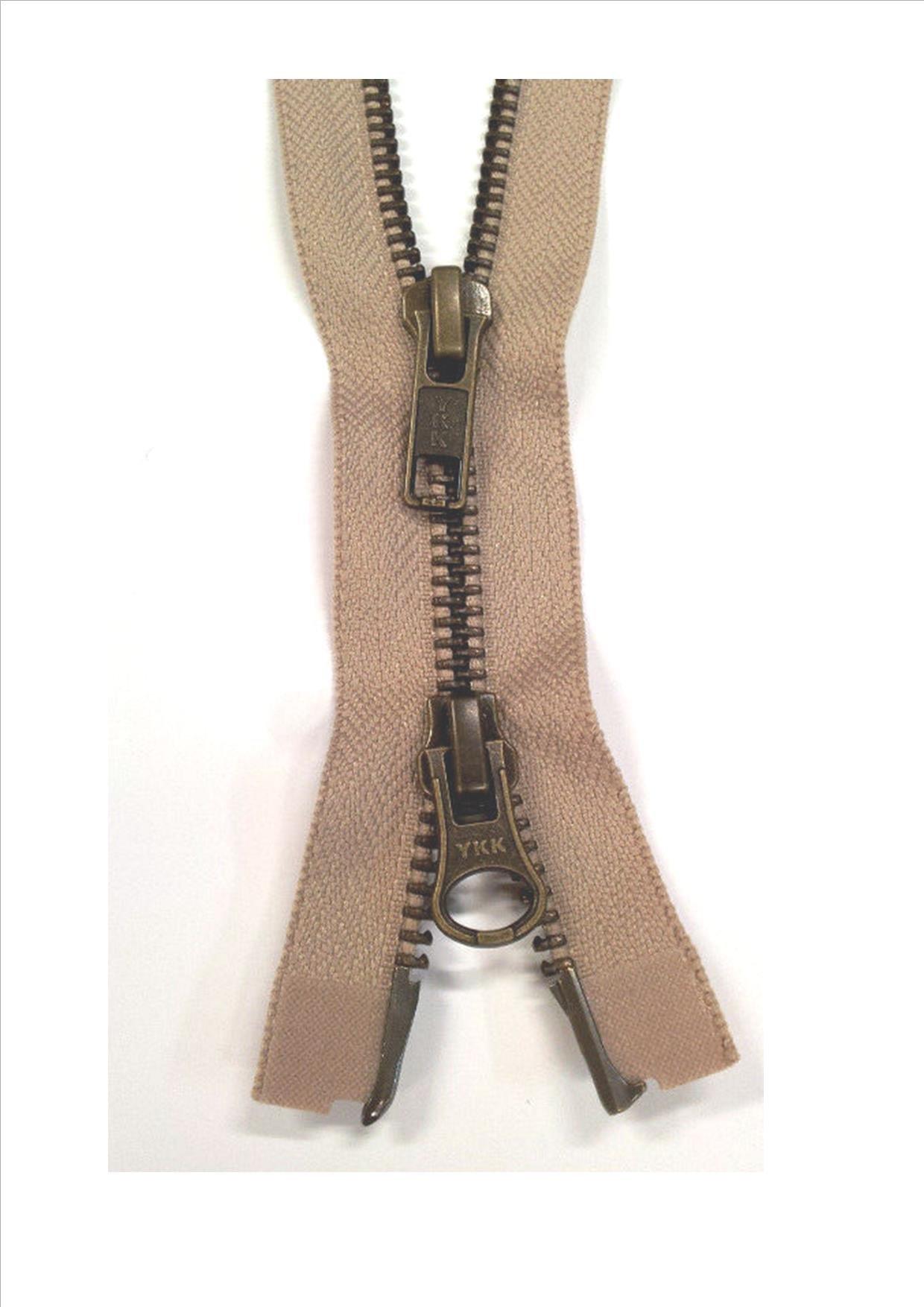 metal teeth 60 cm 1-way separable black-brown YKK zipper
