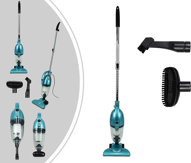 Leogreen - Aspiradora 2 en 1 Vertical y De Mano, Aspiradora Sin Bolsa, Azul, Capacidad del recipiente de polvo: 1,3 L, Sistema de filtrado: Filtro HEPA ...