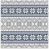 Servilletas de papel decoradas con diseño de invierno - Colección Winter Azul y Plata - 33
