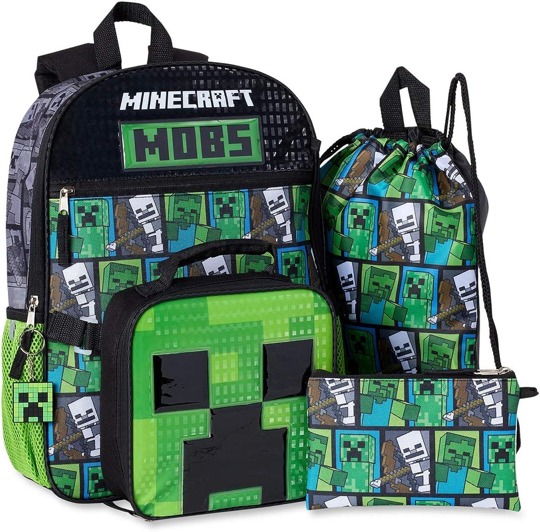 Amazon Com Minecraft 5 Piece Backpack Set No Color Size No Size Clothing