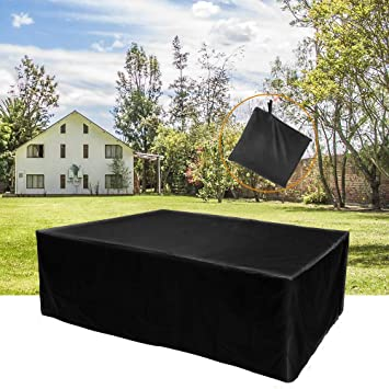 225 & Garden Furniture Covers Rectangular 【200*160*70 CM】 Patio/Table Cover Large Waterproof Durable Furniture Cover Made of 420D Oxford cloth with silver ...