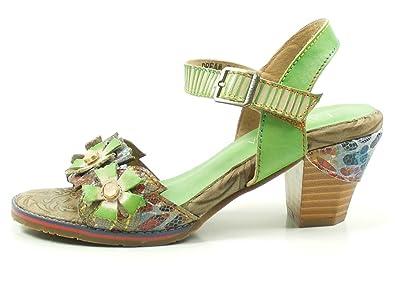 Laura Vita SL235-12 Dax 12 Sandales Mode Femme, Schuhgröße_1:39 EU;Farbe:Marron