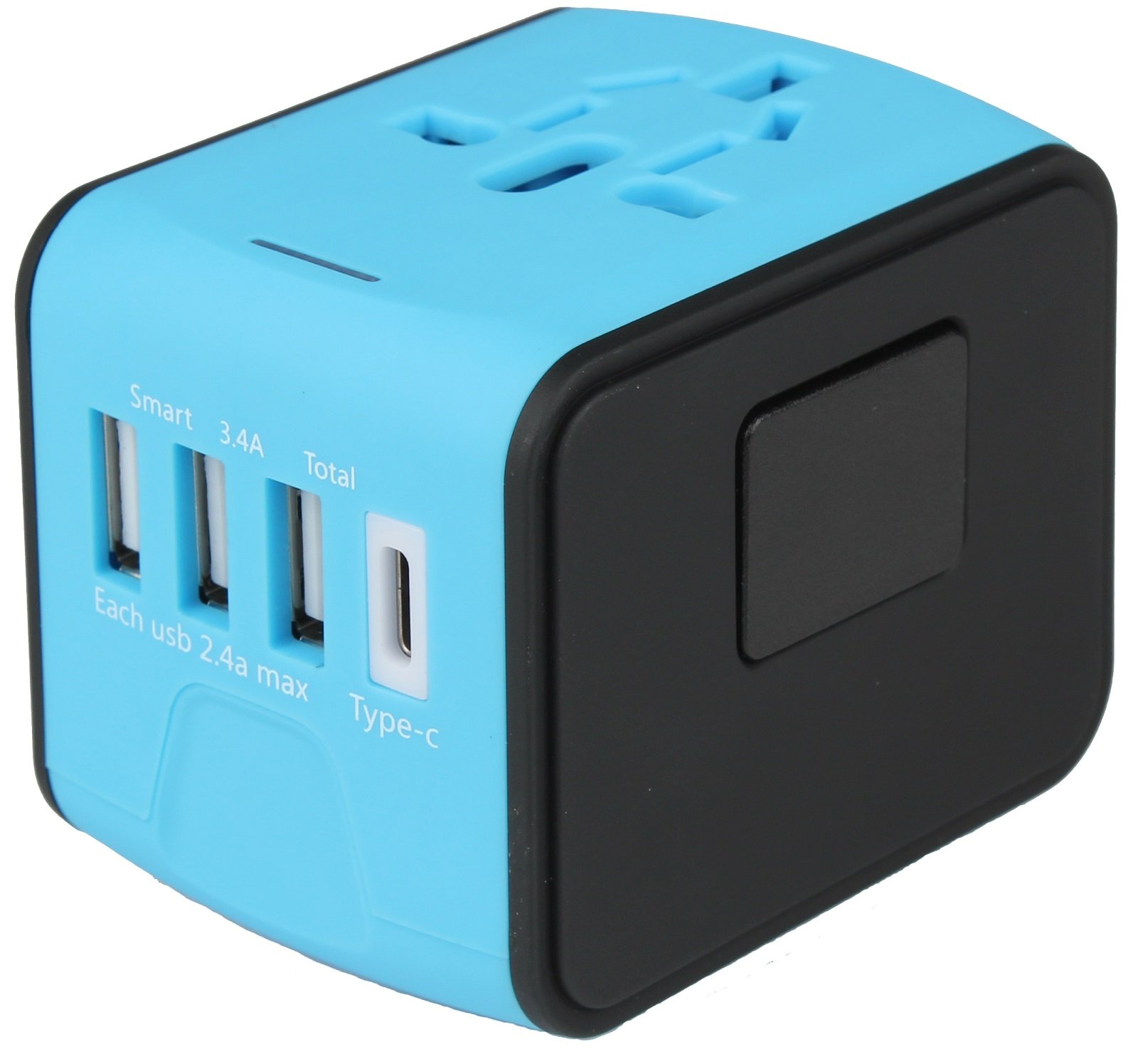 All-In-One International Travel Plug Adapter with 4 USB Ports-Great for iPhone/Smartphone/Laptop by Bangder (Image #2)