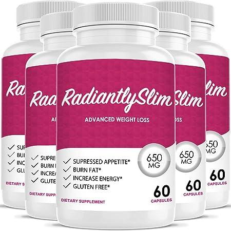 Radiantly Slim Pills for WeightLoss – Advanced Weigh Loss Supplement – Quicker Fat Burn – Carb Blocker 5 Month Supply