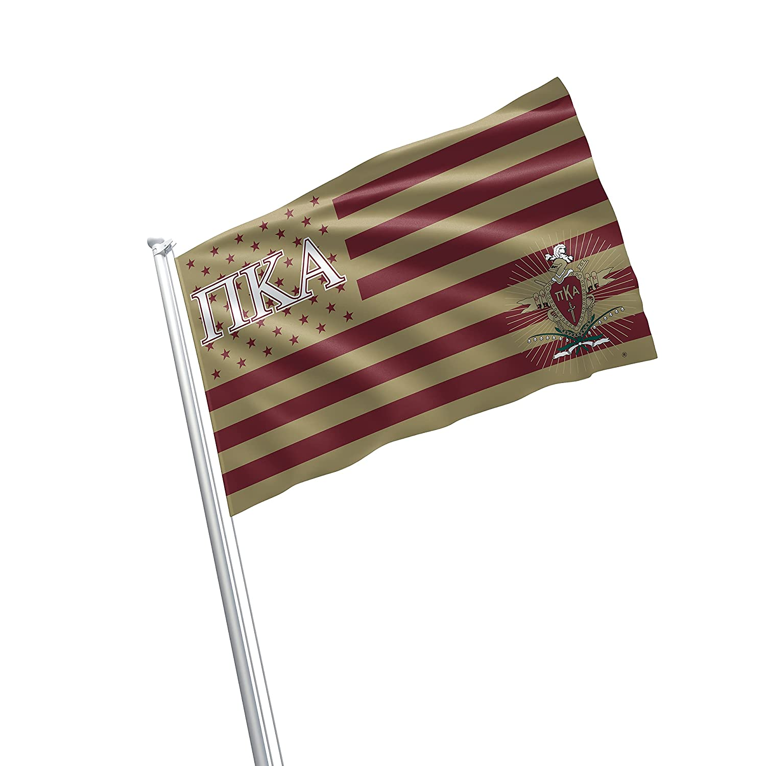 Pi Kappa Alpha Fraternity Greek Life Licensed Flag 2x3 Feet Flag Banner Wall Decor Outdoor Indoor Decoration Brass Grommets Double Stitch