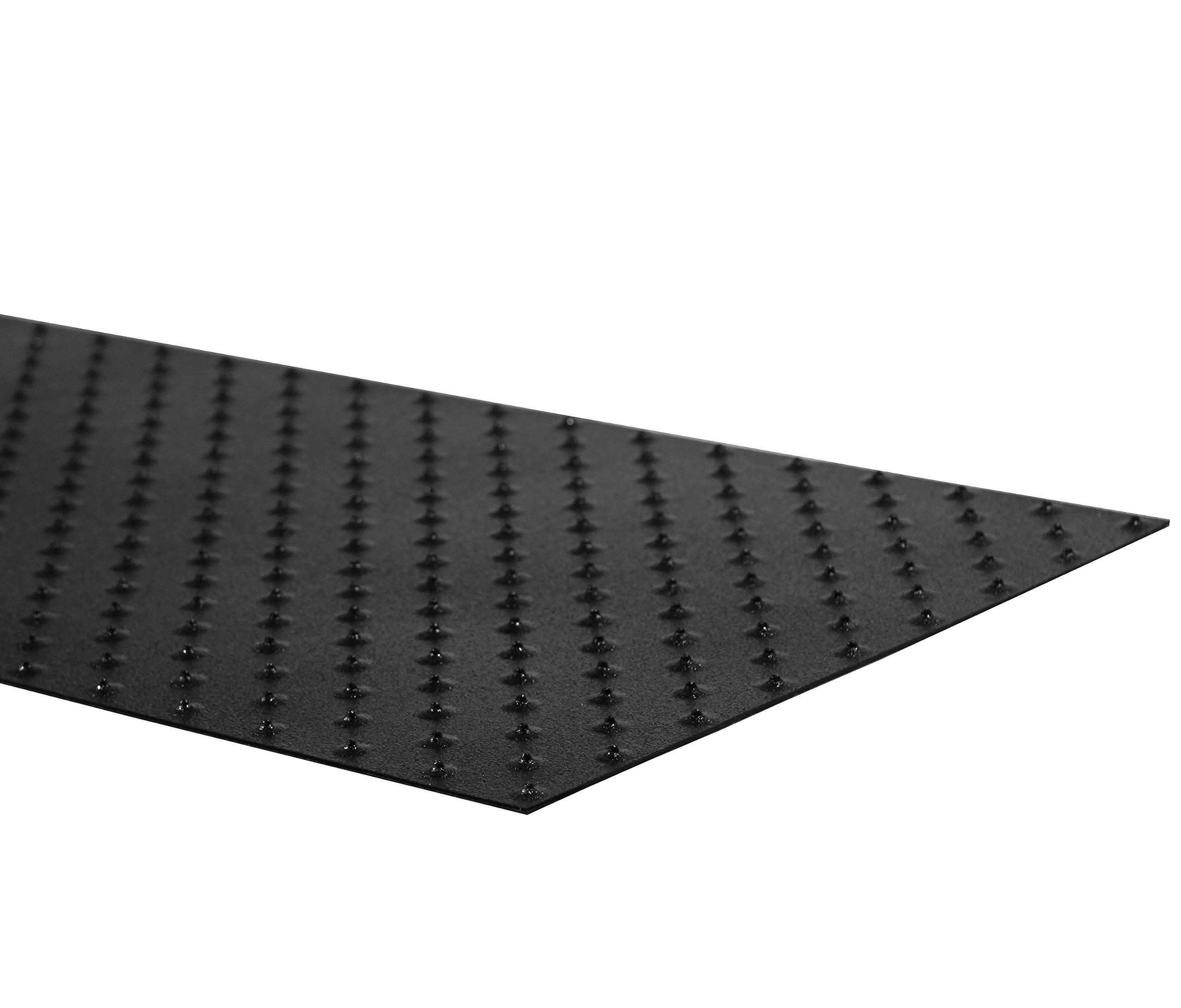 XtremeGrip by GripAll. Black studded anti-slip product.  12'' x 24''