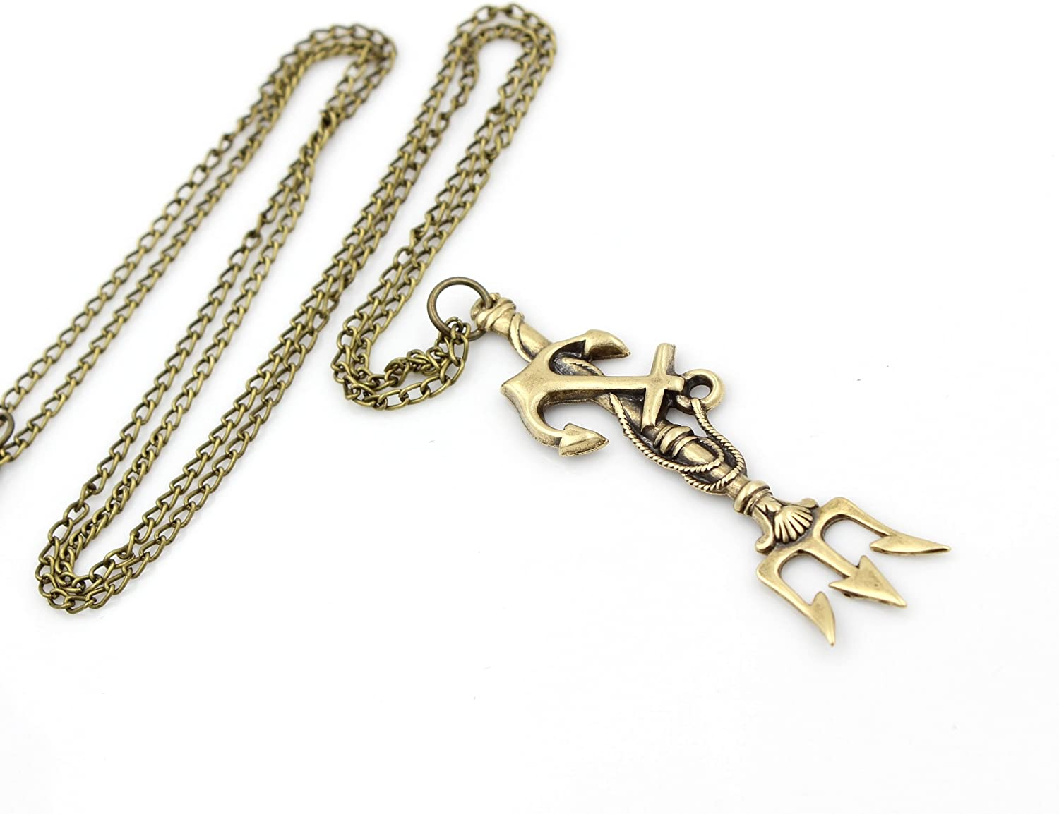 diamond trident full yellow pendant poseidon gold and with click rl expand fish to item vintage