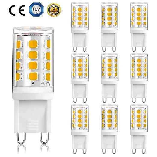 Bombilla LED G9, LED G9 2 W, sin parpadeo para lámpara de ...