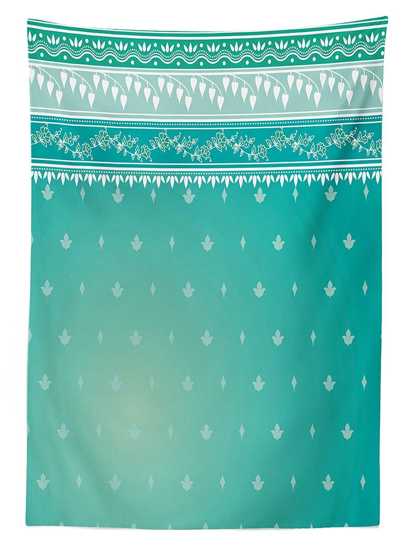 Teal Decor Mantel Indio Sari patrón asiático tradicional ropa tejido ...