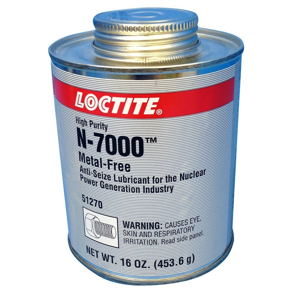 Loctite 51270 Silver LB 8013 High-Purity Anti-Seize Lubricant, -20 Degree F Lower Temperature Rating to 2400 Degree F Upper Temperature Rating, 1 lb. Brush Top Can by Loctite