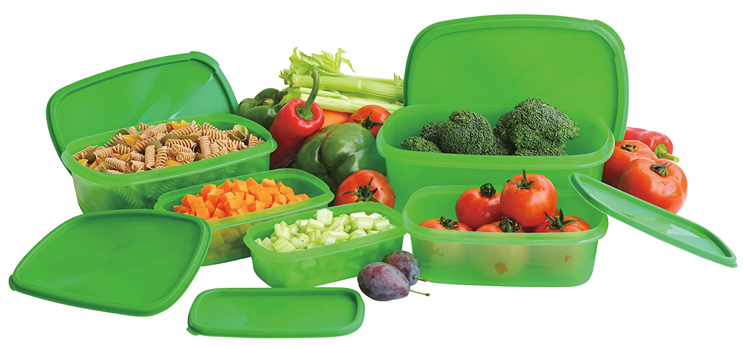 Vegetables Storage Containers Amazon gourmet trends original always fresh containers 10 amazon gourmet trends original always fresh containers 10 piece set kitchen storage and organization product sets kitchen dining workwithnaturefo