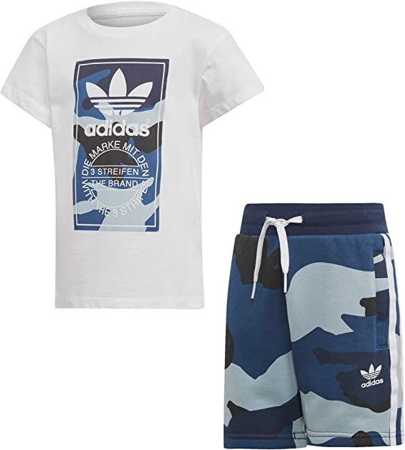 adidas ensemble outline tee shorts