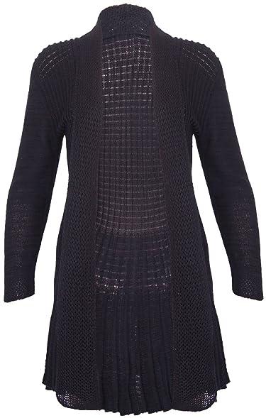 PurpleHanger Women's Waterfall Knit Open Cardigan Top Plus Size at ...