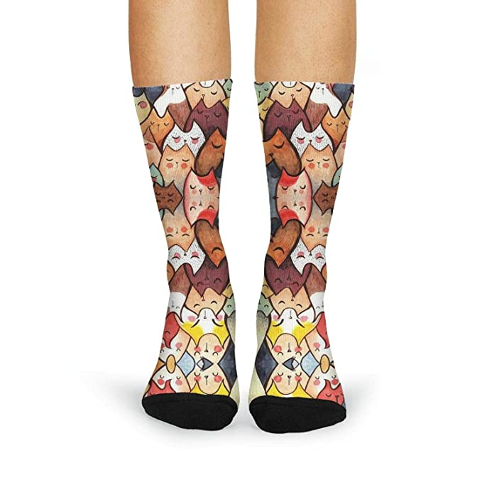 1039c6e13b1 Cat painting colorful cute Womens Hiking Socks Reinforced Fashion