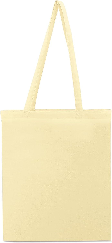 My Custom Style 10 Bolsas de Compras algodón 145gr Beige 38x42cm Asas 70cm